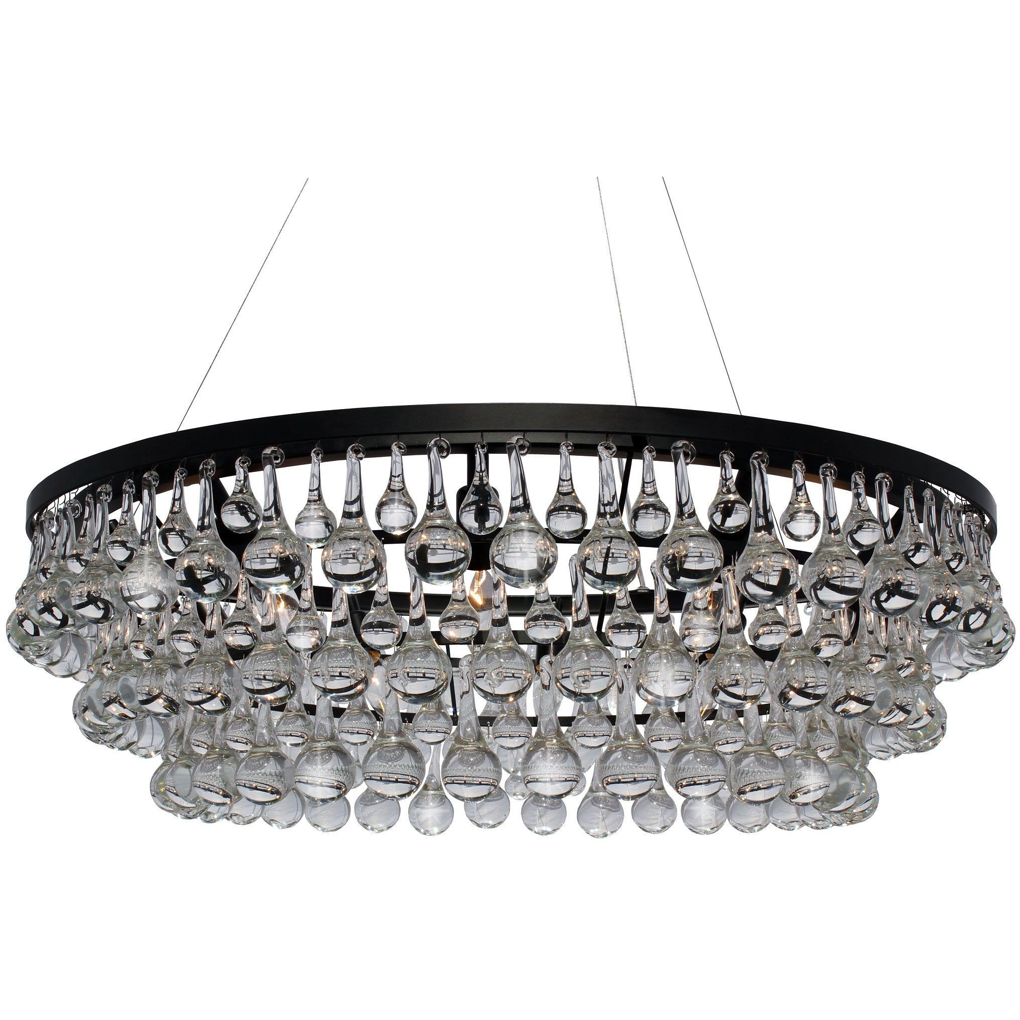 This stunning 10 light glass crystal chandelier will light up your