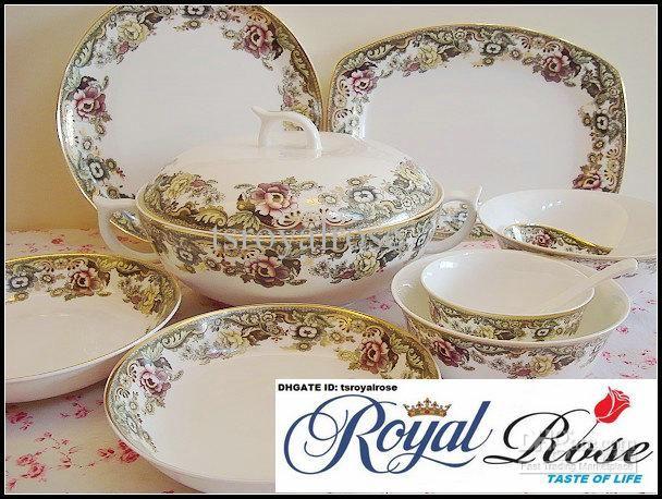 Bone China Dinnerware Set-England Rose Orginal from Tangshan Red .  sc 1 st  Pinterest & elegant china dinnerware - Google Search | elegant China | Pinterest ...