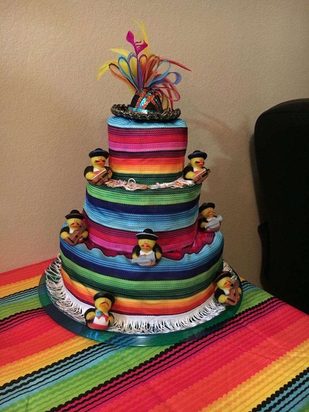 Fiesta Diaper Cake