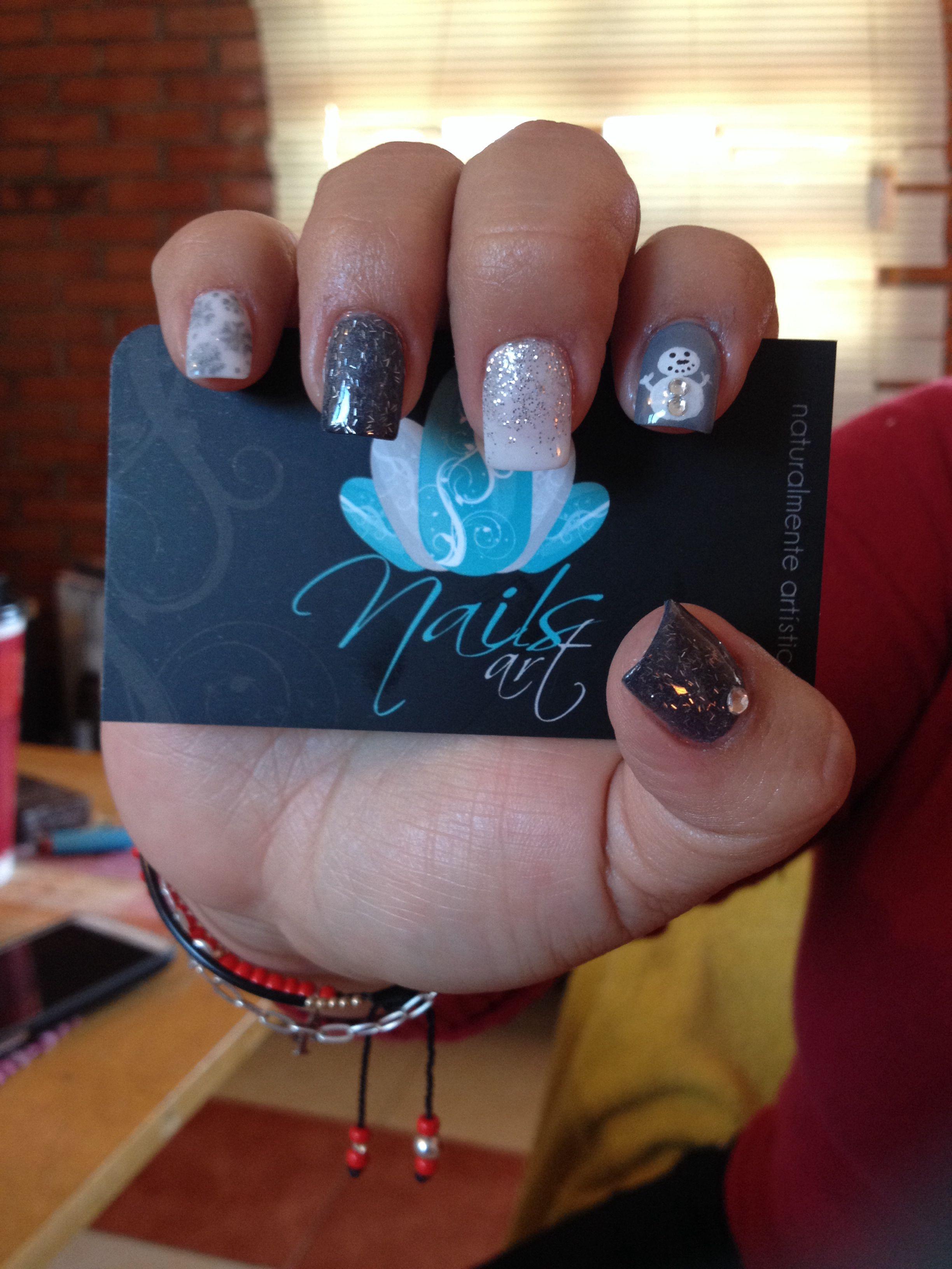 Nails art acrylic nails christmas nails Nails art Pinterest