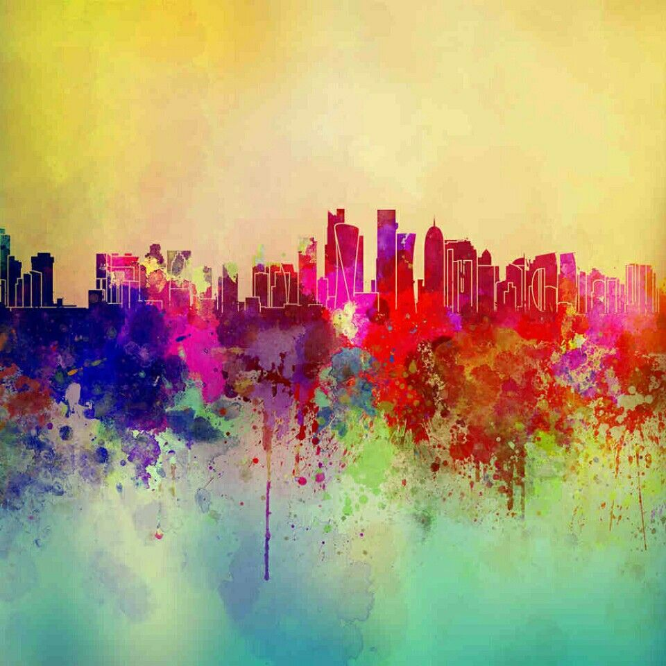Abstract City, Painting Wallpaper, Painting