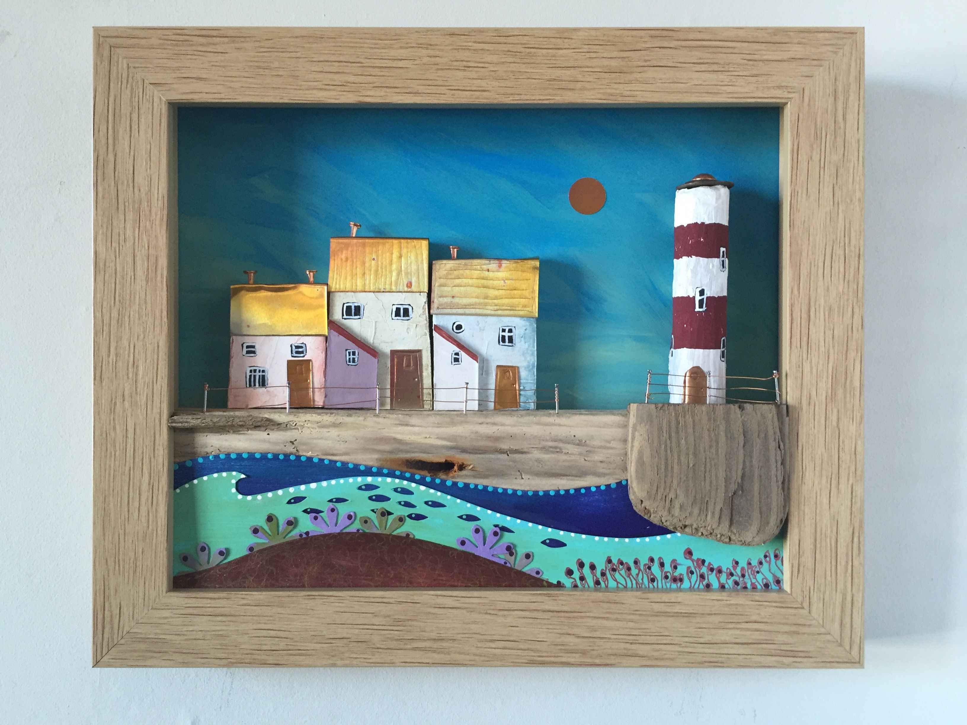 Coastal shadow box www.bridgetwilkinson.co.uk | driftwood ...