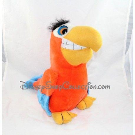 Peluche perroquet iago disney aladdin orange vintage 33 cm - Singe de aladin ...