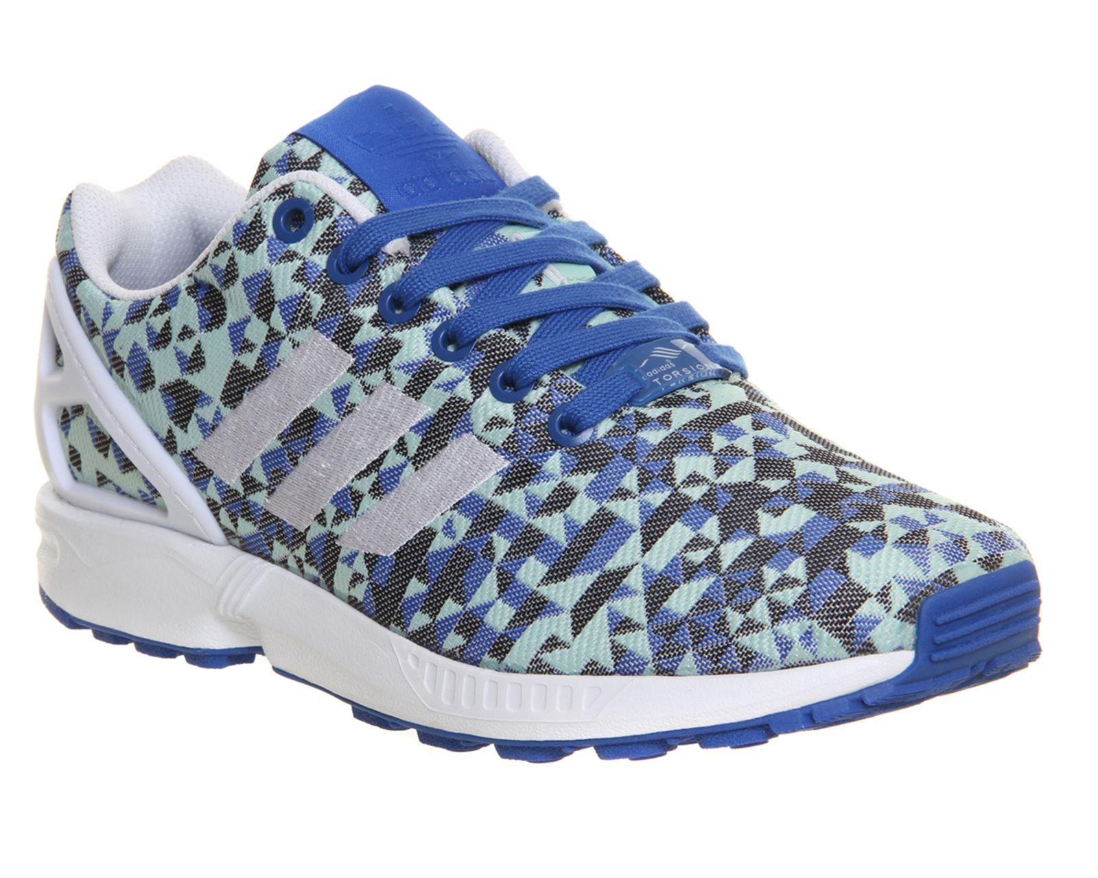 adidas zx flusso tessuto blu - bianco - rosso le scarpe sportive unisex