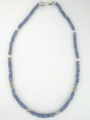 beaded tanzanite necklace