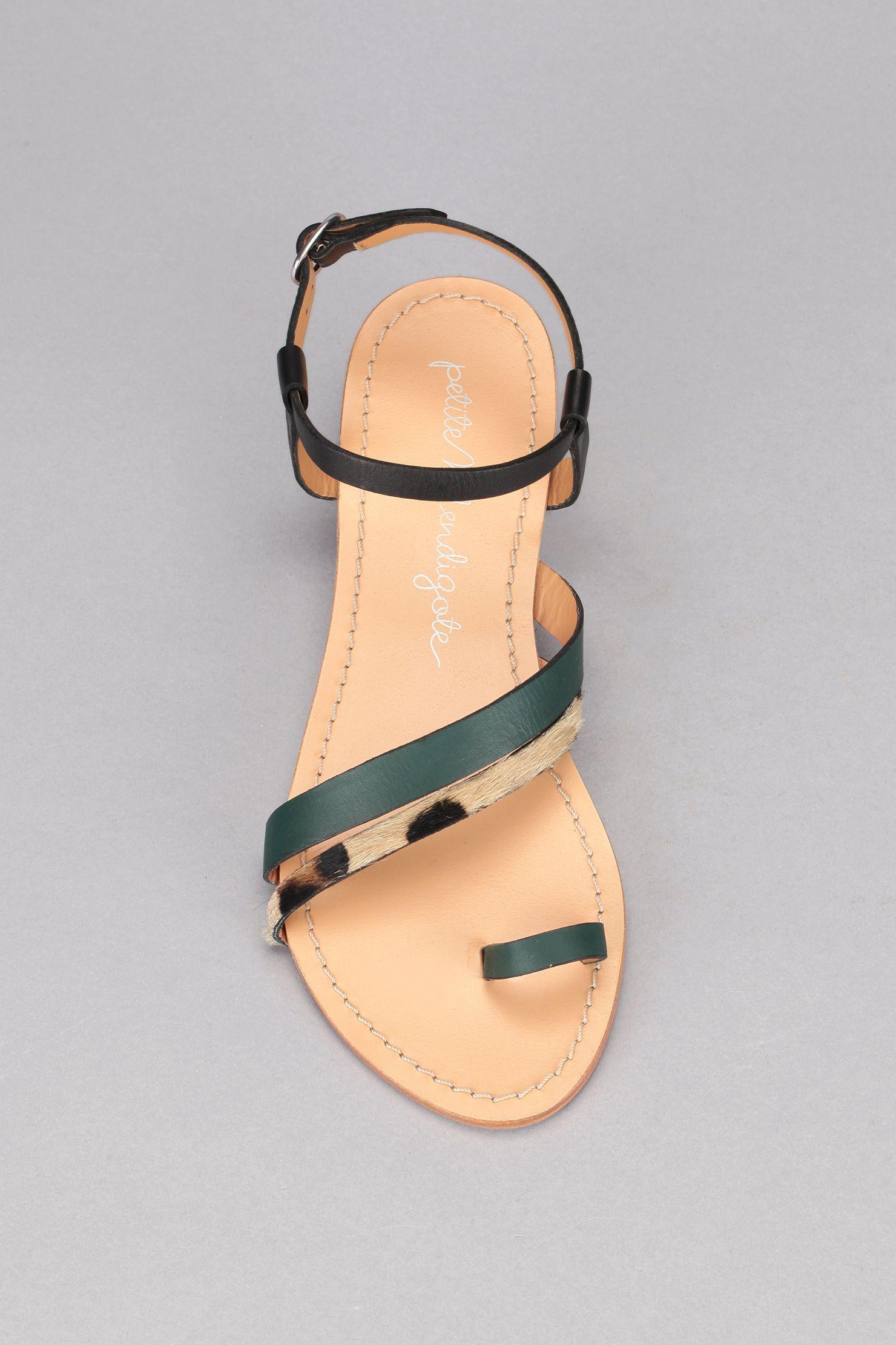 63fcb2dd13b4 Nu-pieds cuir crin de poulain Formentera Slow Fashion