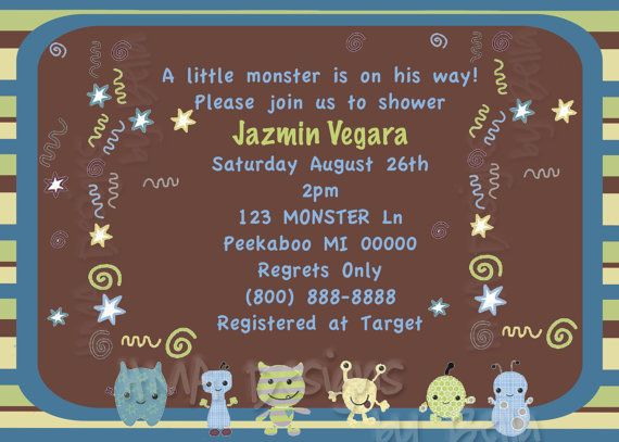 CoCaLo PeekABoo Monsters Invite by HMADesignsbyBella on Etsy, $12.00