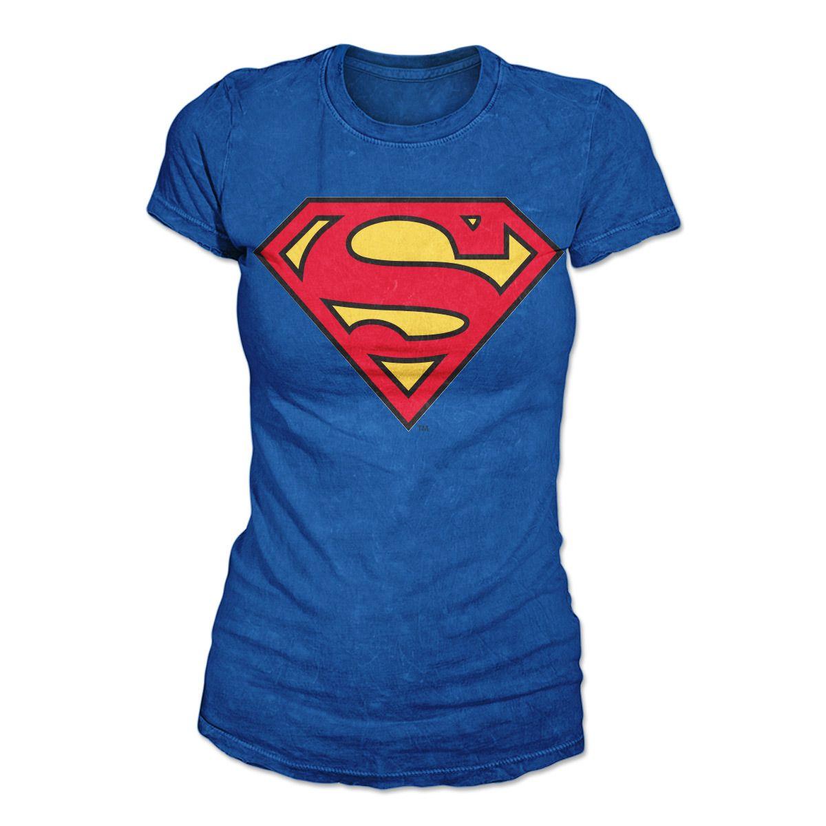 929184ebe Camiseta Feminina Superman - Logo Supergirl Oficial