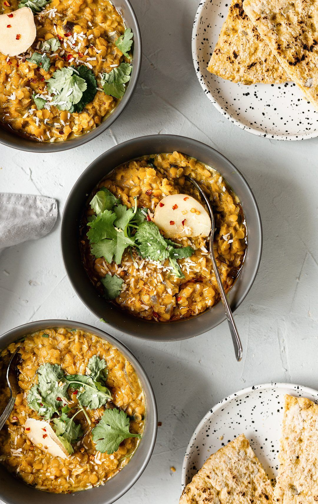 Vegan Creamy Red Lentil And Turmeric Dhal