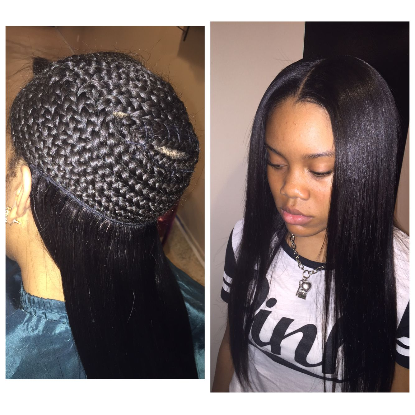 Middle Part Sew In Braid Pattern Amazing Design Ideas