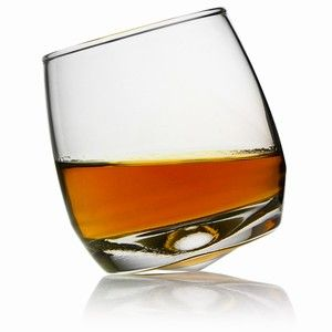 rocking whiskey glass....swirls itself with a gentle tap