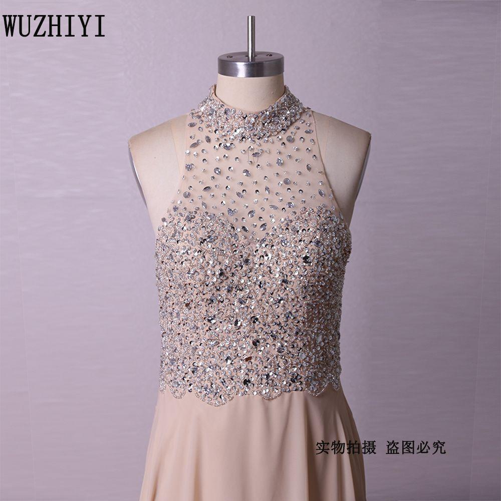 Click to buy ucuc wuzhiyi chiffon beading bodice black girl prom dress