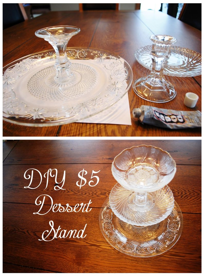 Diy 5 Tiered Dessert Stand Instructions Using Thrift