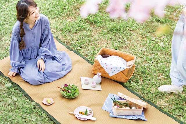 ブルーシートはもう卒業 畳柄のレジャーシートでお花見やハイキングを優雅に楽しもう Fundo お花見 花見 ピクニック