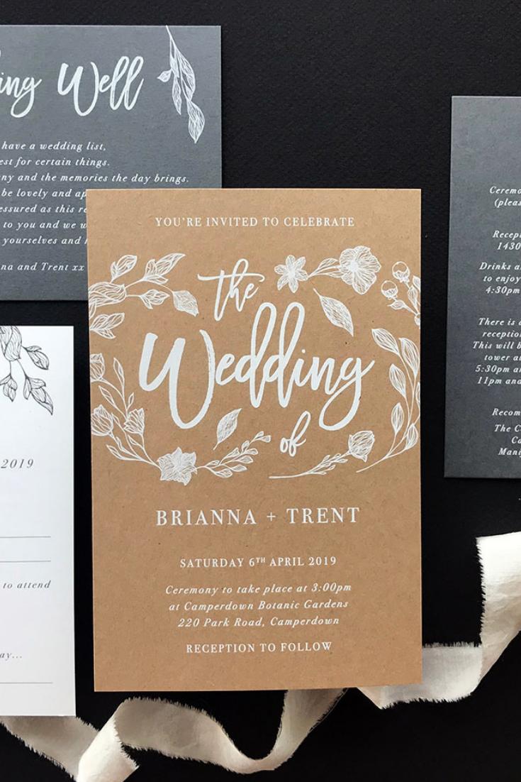 We Love This Custom Invitation Suite Perfectly Rustic Elegant We Create Engag Wedding Invitations Australia Wedding Invitation Trends Engagement Invitations