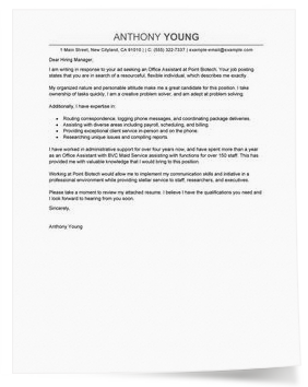 Sample General Cover Letter  Cover Letter Samples