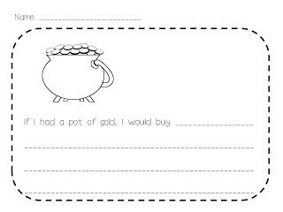 St. Patrick's Day Writing FREEBIE! - Kreative in Life