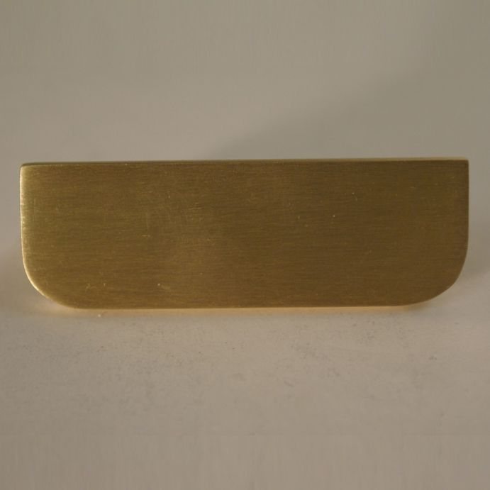 Rectangle Solid Brass Pull With Round Edge Brass Pulls Solid