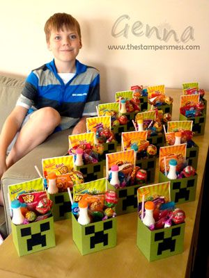 Creeper-Goody-Bags | Mine Craft Party | Pinterest | Goody bags ...