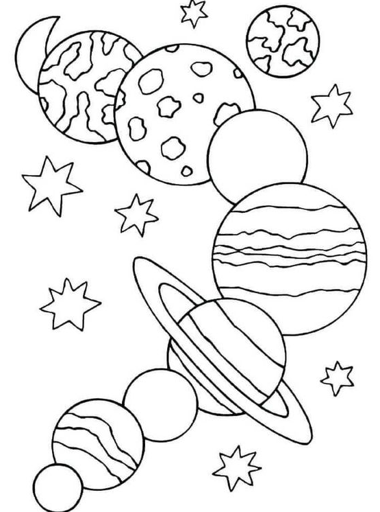 Free Printable Solar System Coloring Pages For Kids (With images ... | 746x555