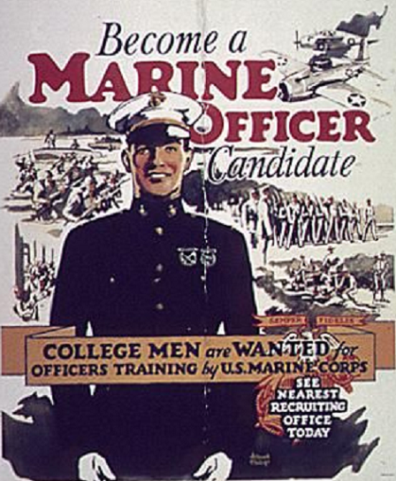 Usmc Vintage Officer Candidate Recruiting Poster Marine Officer Marine Corps Recruiting Usmc Recruiting