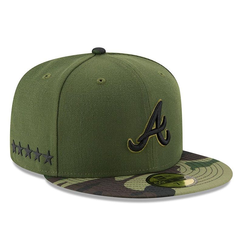 Atlanta Braves New Era 2017 Memorial Day 59FIFTY Fitted Hat - Green ... 3f88482d54c