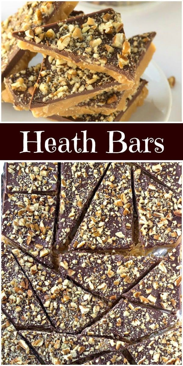 Bars Homemade Heath Bars recipe from  via @recipegirlHomemade Heath Bars recipe from  via @recipegirl