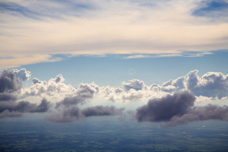 Above the clouds. An aerial photo of clouds from above , # ...