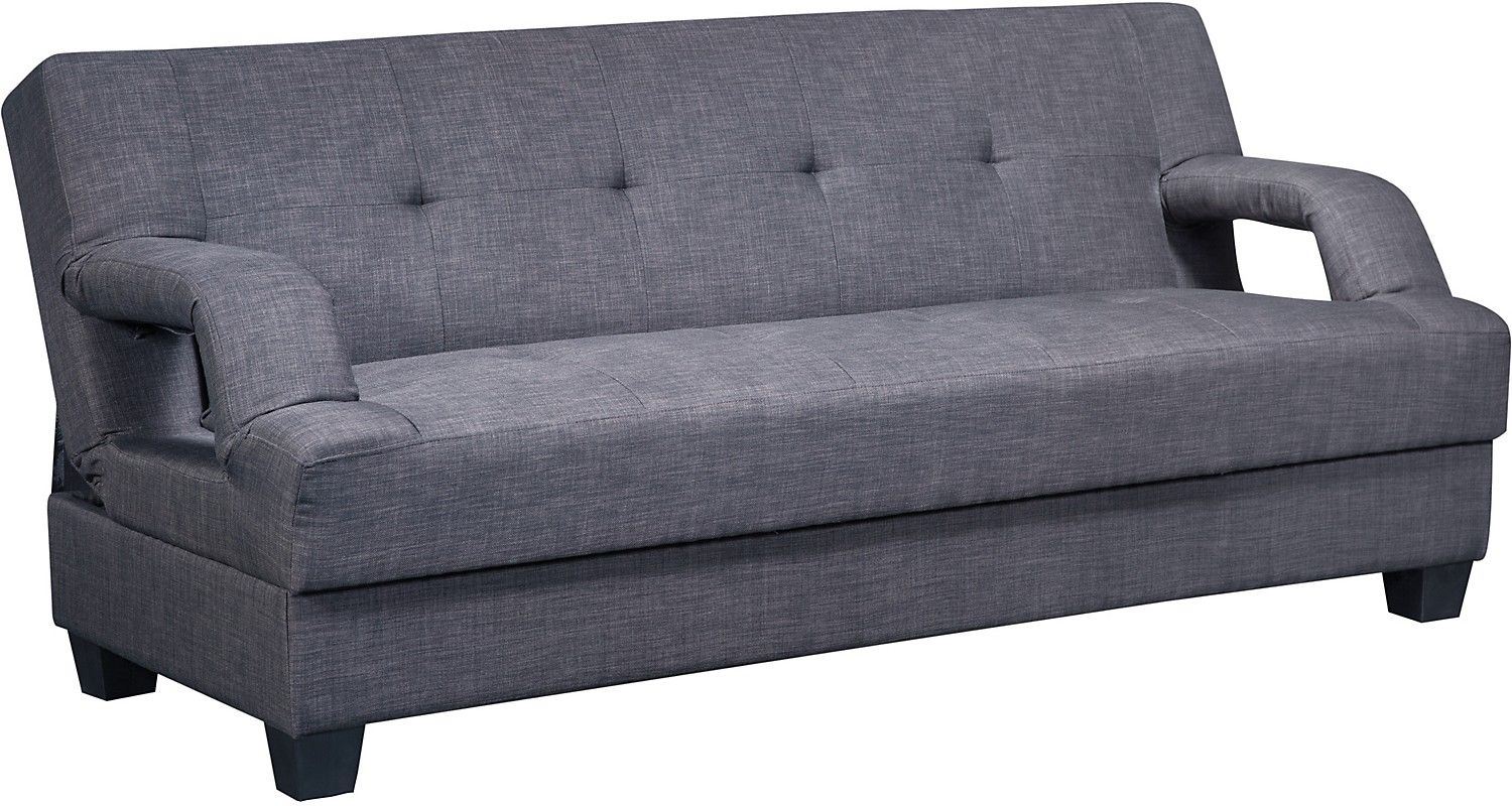 Vogue Futon Charcoal Modern futon Living room sofa and Accent