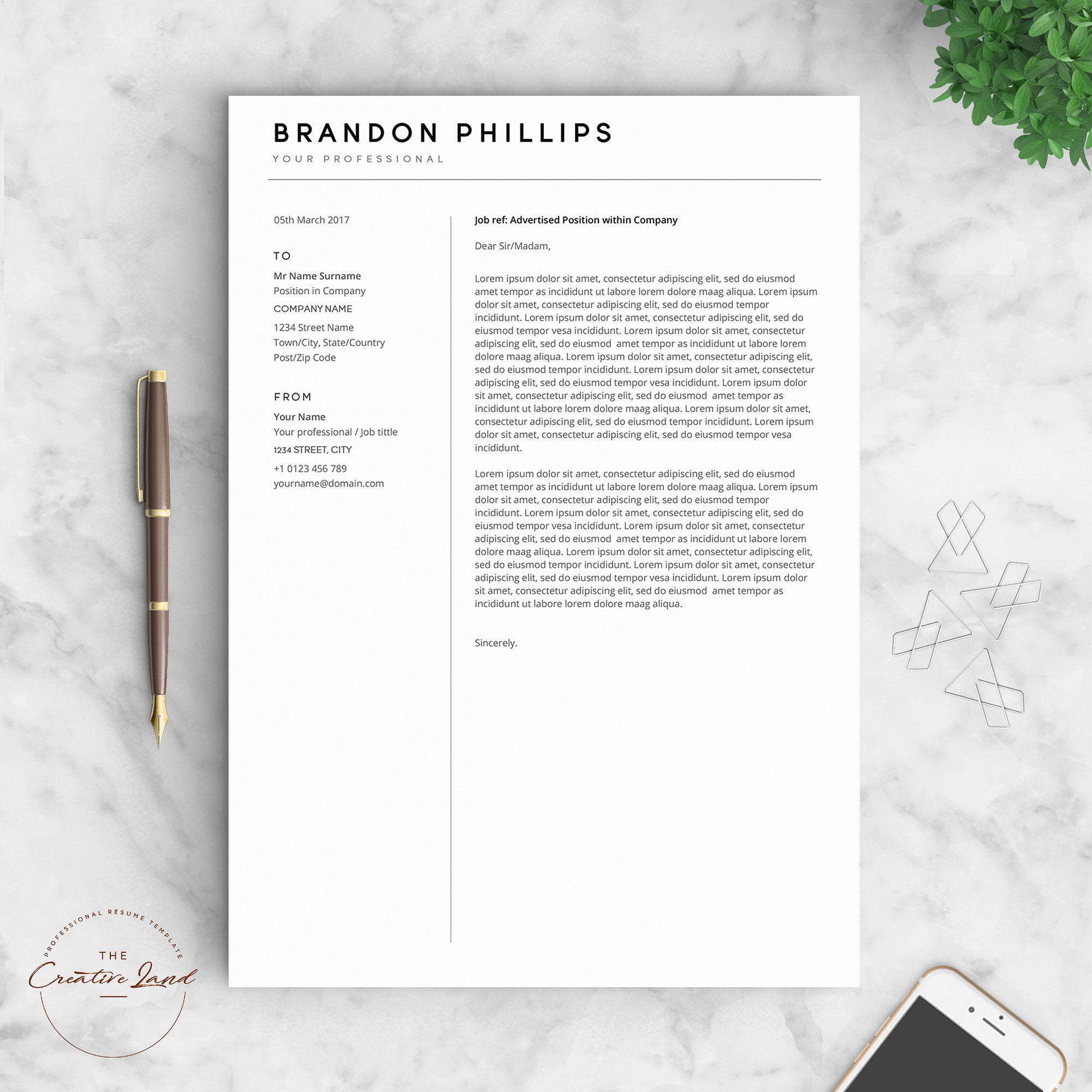 Resume/CV The Brandon Templates, Social media template