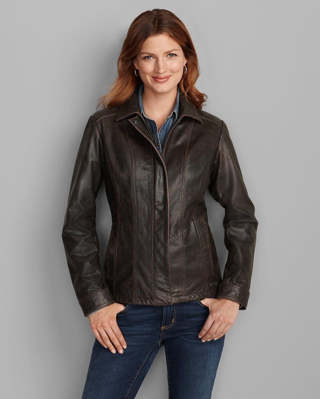 Women's Leather Stine Jacket Eddie Bauer Blazer
