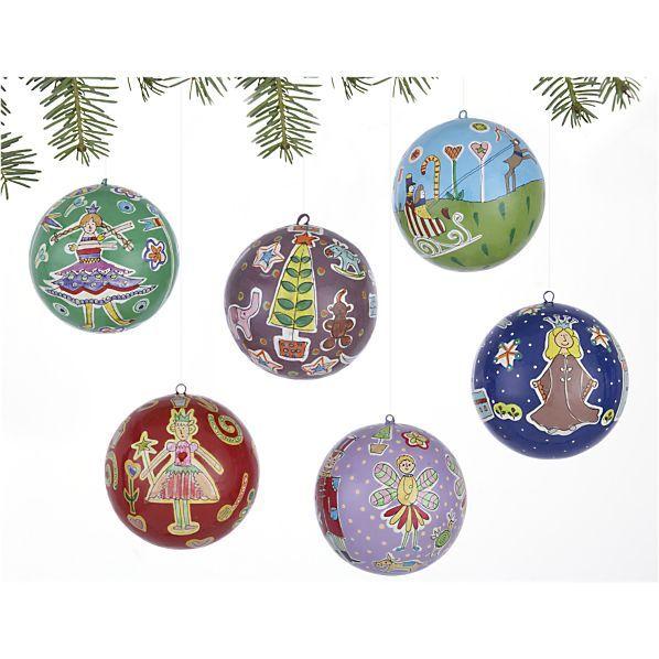 Set of 6 Handpainted Nutcracker Ornaments (was $2695, now on sale