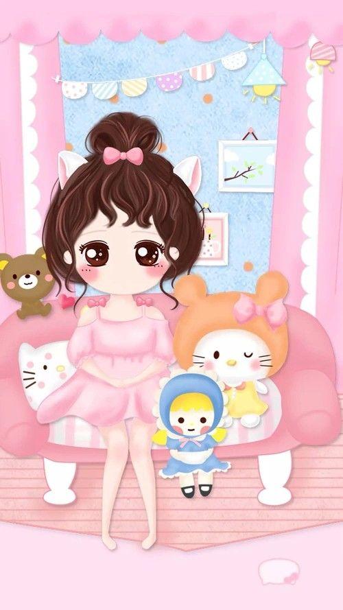 Wallpaper Fave Pinterest Cute Wallpapers Kawaii And Cute Girl