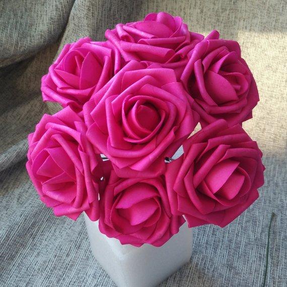 Stock Hot Pink Flower Hot Pink Flowers Fuchsia Flowers Stock