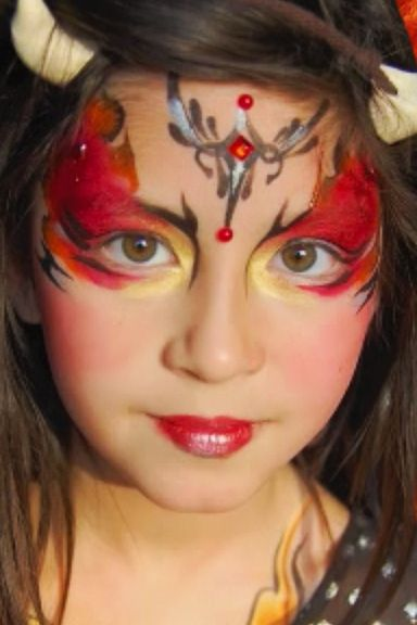 Devil face paint halloween kids crafts pinterest for Cara pintada diablo