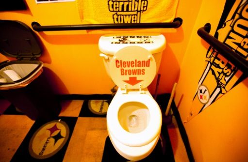 Nice Bathroom Steelers Flushing The Dodo Browns Down The Toilet Lol Steelers Fan Pittsburgh Steelers Steelers