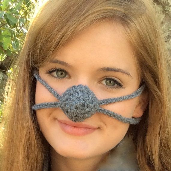 Dark Gray Nose Warmer by Aunt Marty. Perfect way to keep your nose warm and bring smiles at the same time! Great for outdoor sports activities or