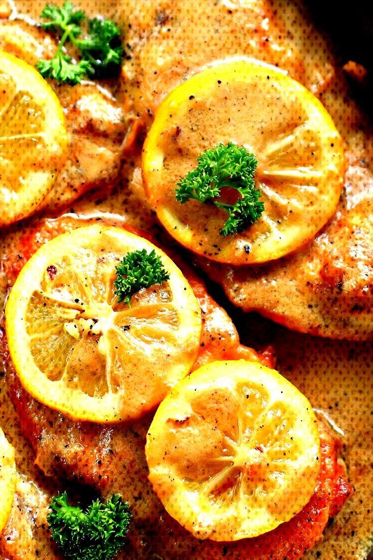 Easy Creamy Lemon Chicken Breasts - Best Dinner Recipe For Family -Easy Creamy Lemon Chicken Breas