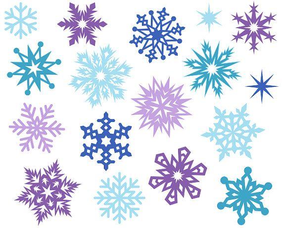 christmas snowflakes cute digital clipart christmas clip art xmas rh pinterest co uk snowflake clipart free download free snowflake clipart images