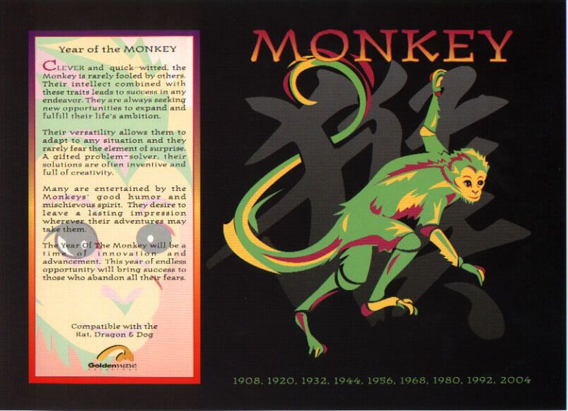 Chinese Horoscope Signs The Monkey Chinese Astrology Horoscope Signs Chinese Zodiac Signs