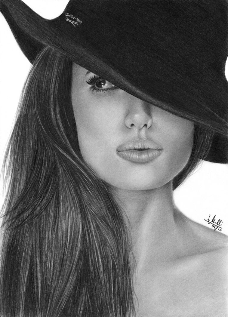 Pencil drawing angelina jolie by isabel mr