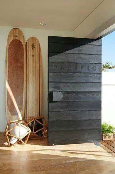 Charcoal Timber Finished Entry Door To Match Cladding Beach House Interior Wood Doors Interior House Design
