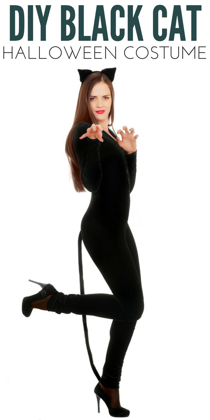 Black Cat Costume From Clothes You Have In Your Closet!