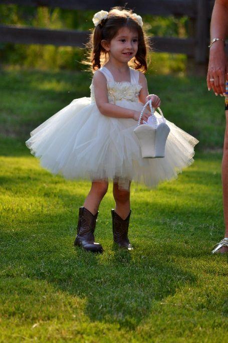 96b95a84a2 Flower girl boots and tutu dress | Tutus & Cowboy Boots :) | Wedding ...