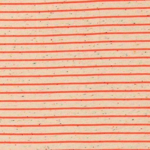 Jersey, Offwhite mit Muster und Streifen