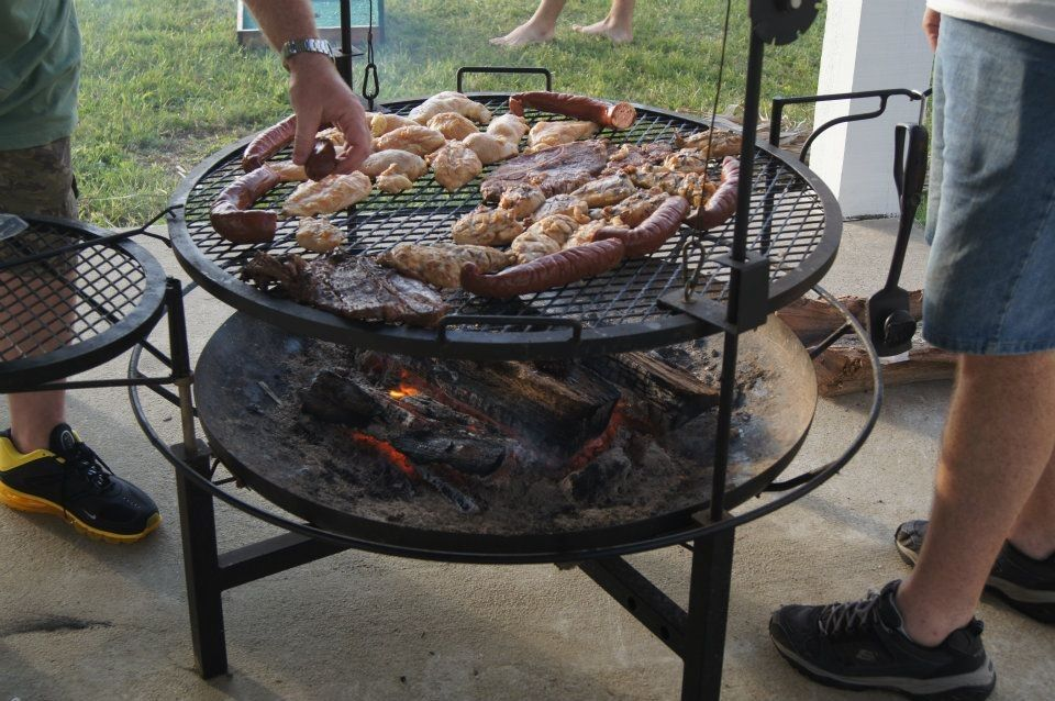 Giant fire pit/grill combo - great for dinner and ...
