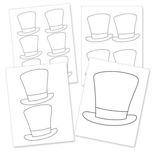 Top Hat Template Printable Free Magic Party Magic Birthday Magic Birthday Party