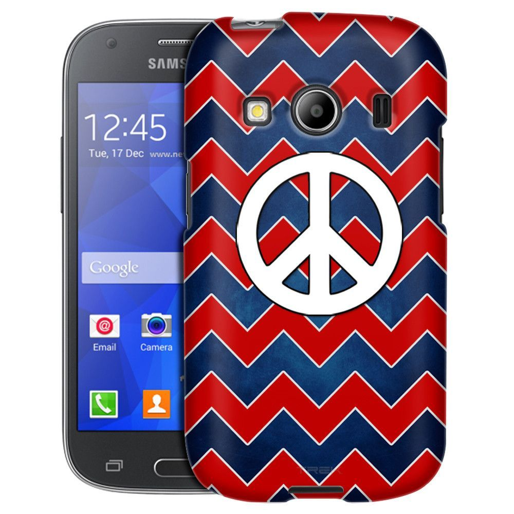 Samsung Galaxy Ace Style Patriotic Peace on Chevrons Case