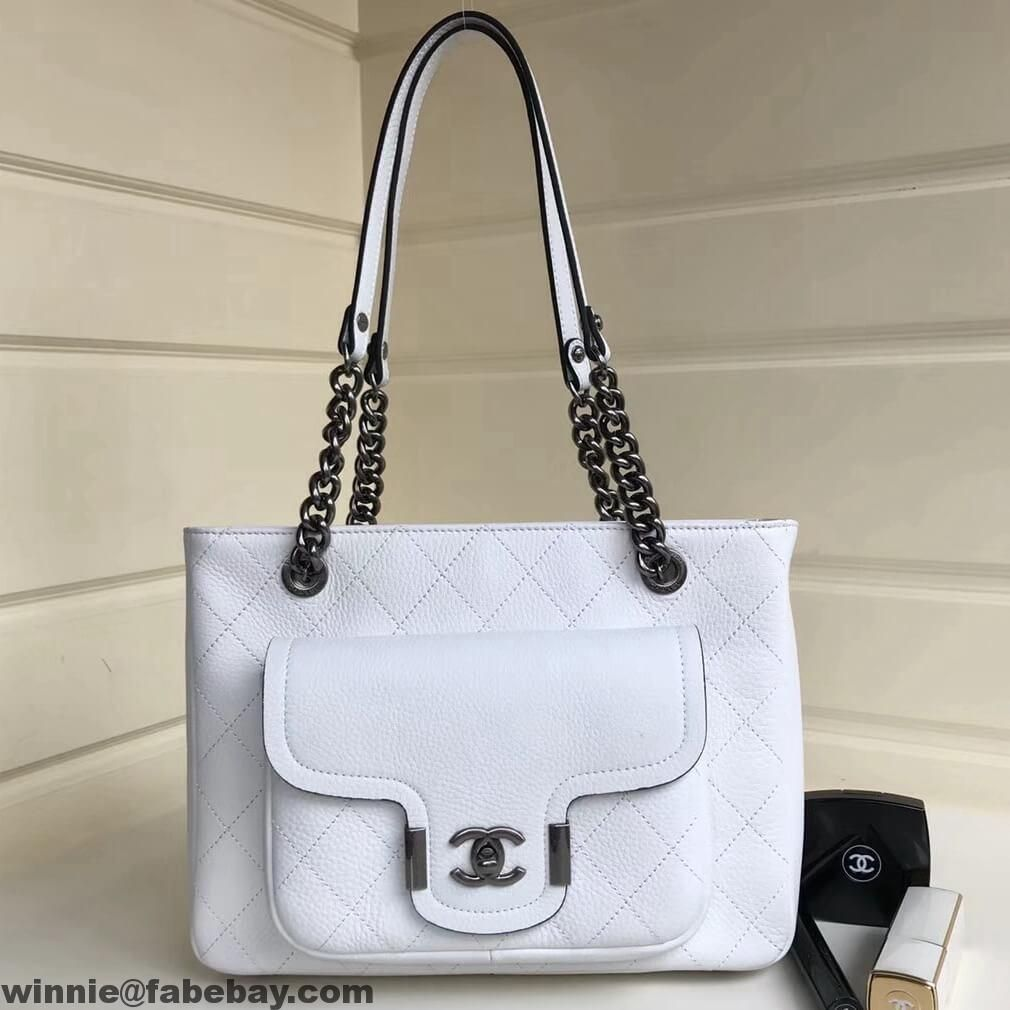 d48463573632 Where Chanel Small Archi Chic Shopping Bag | Chanel | White chanel ...