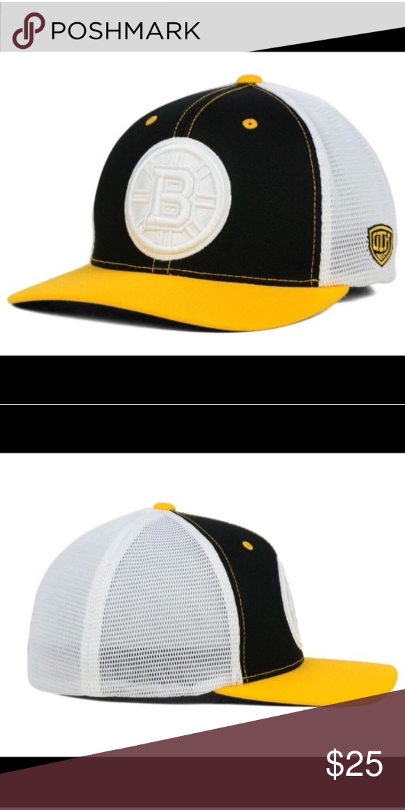 8d5f0c0a408 Boston Bruins old time hockey change up flex hat Color  Black white  Material  Made of 55% Cotton